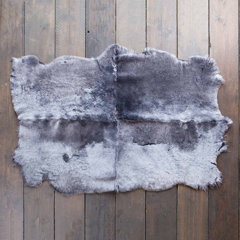 Quad Shearling Throw in Graphite -  - SHEEPSKIN  from The Wool Company