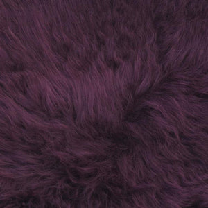 Quad Sheepskin - Aubergine - SHEEPSKIN  from The Wool Company