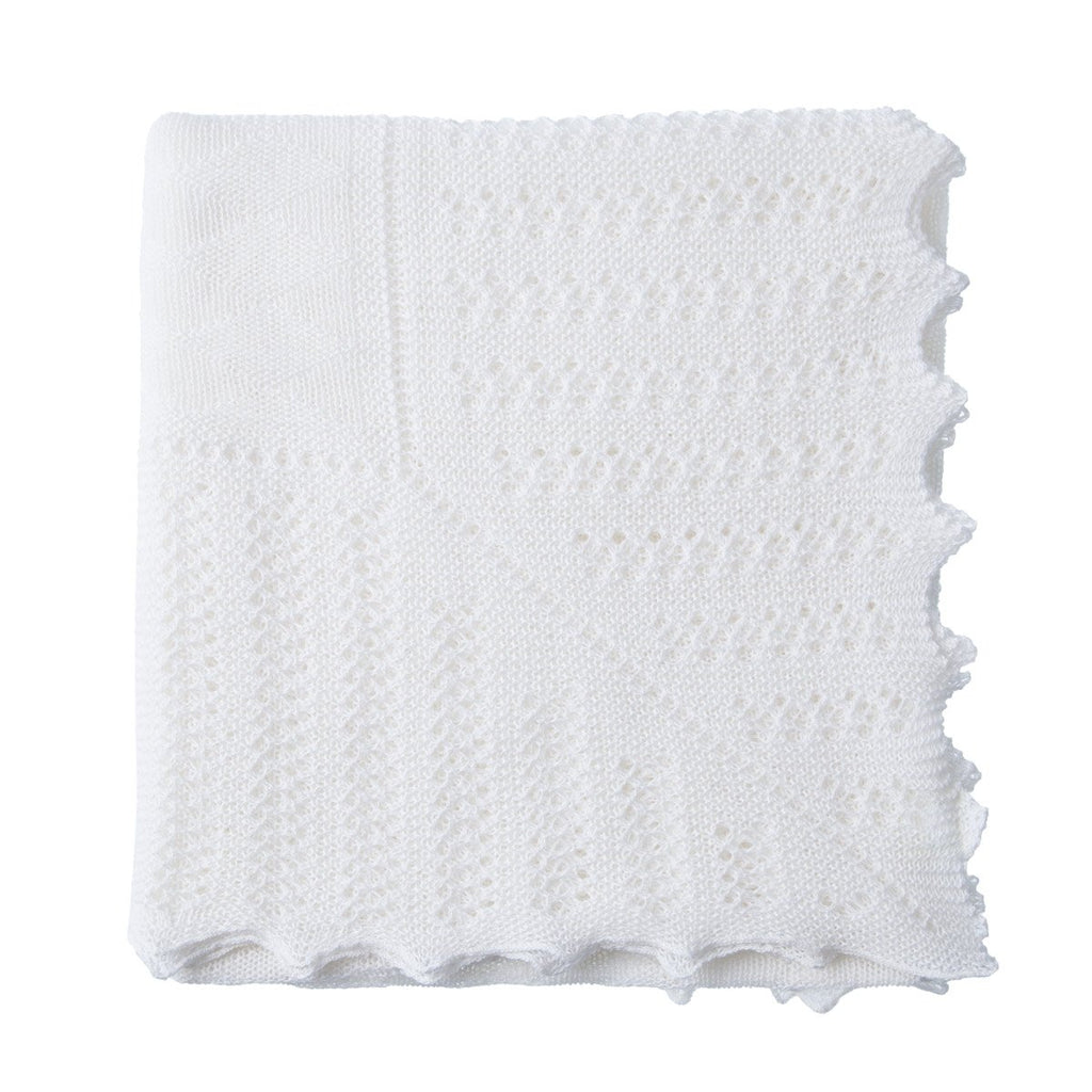 Receiving Blanket in Wool / Cotton Blend -  - BABY  from The Wool Company