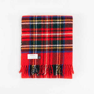 Royal Stewart Tartan Check Pure New Wool Knee Rug -  - LIVING  from The Wool Company