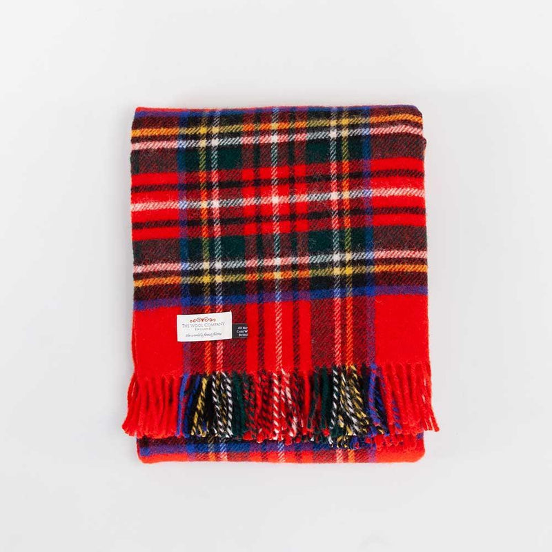 Royal Stewart Tartan Check Pure New Wool Throw -  - LIVING  from The Wool Company