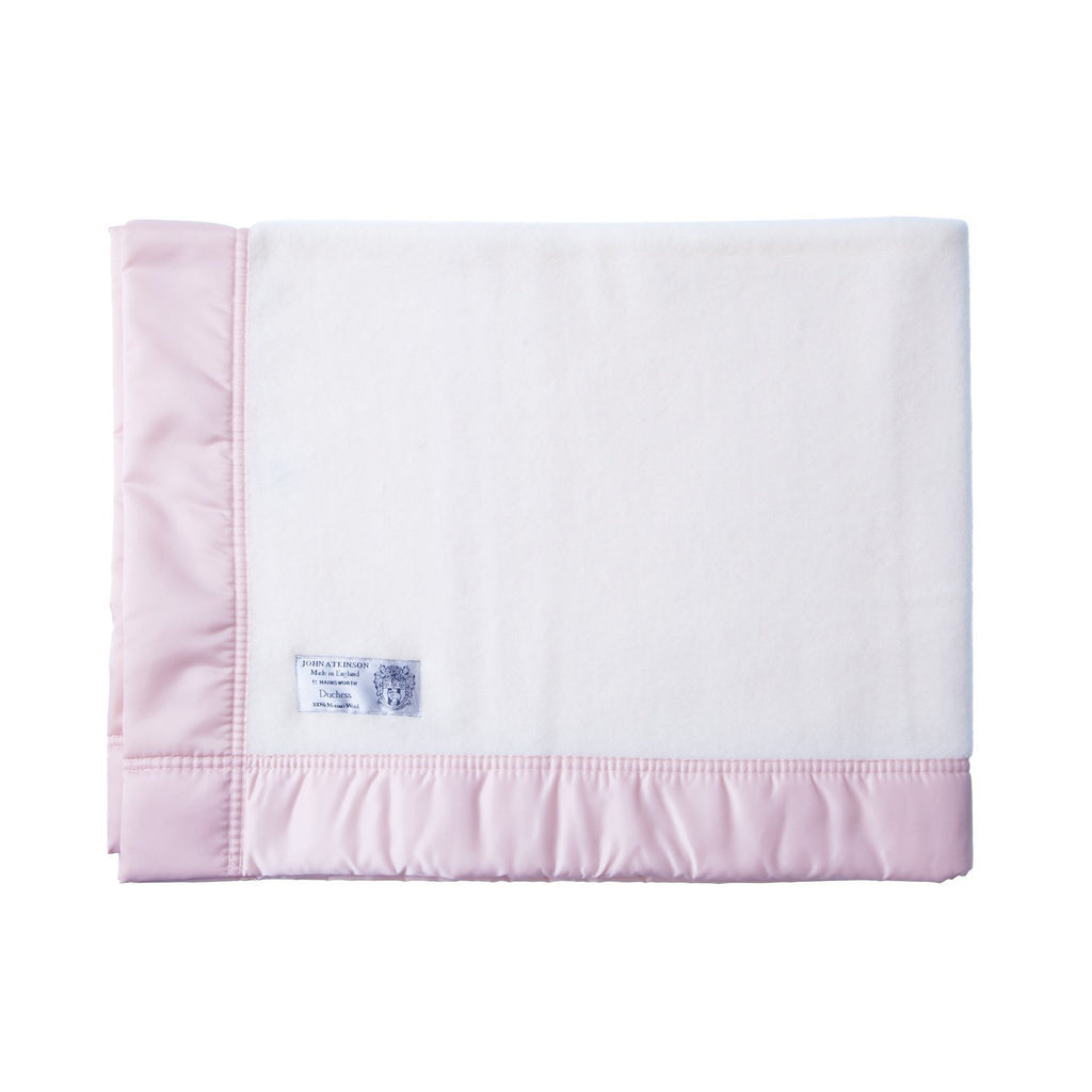 Buy Satin Bound Merino Baby Blanket Soft Pink From The Wool Company Online