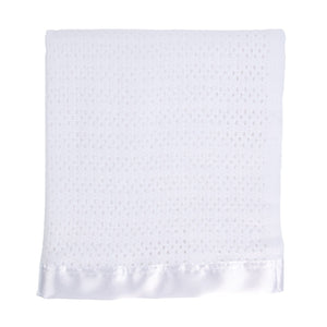 Buy Satin Trimmed Baby Blanket From The Wool Company Online