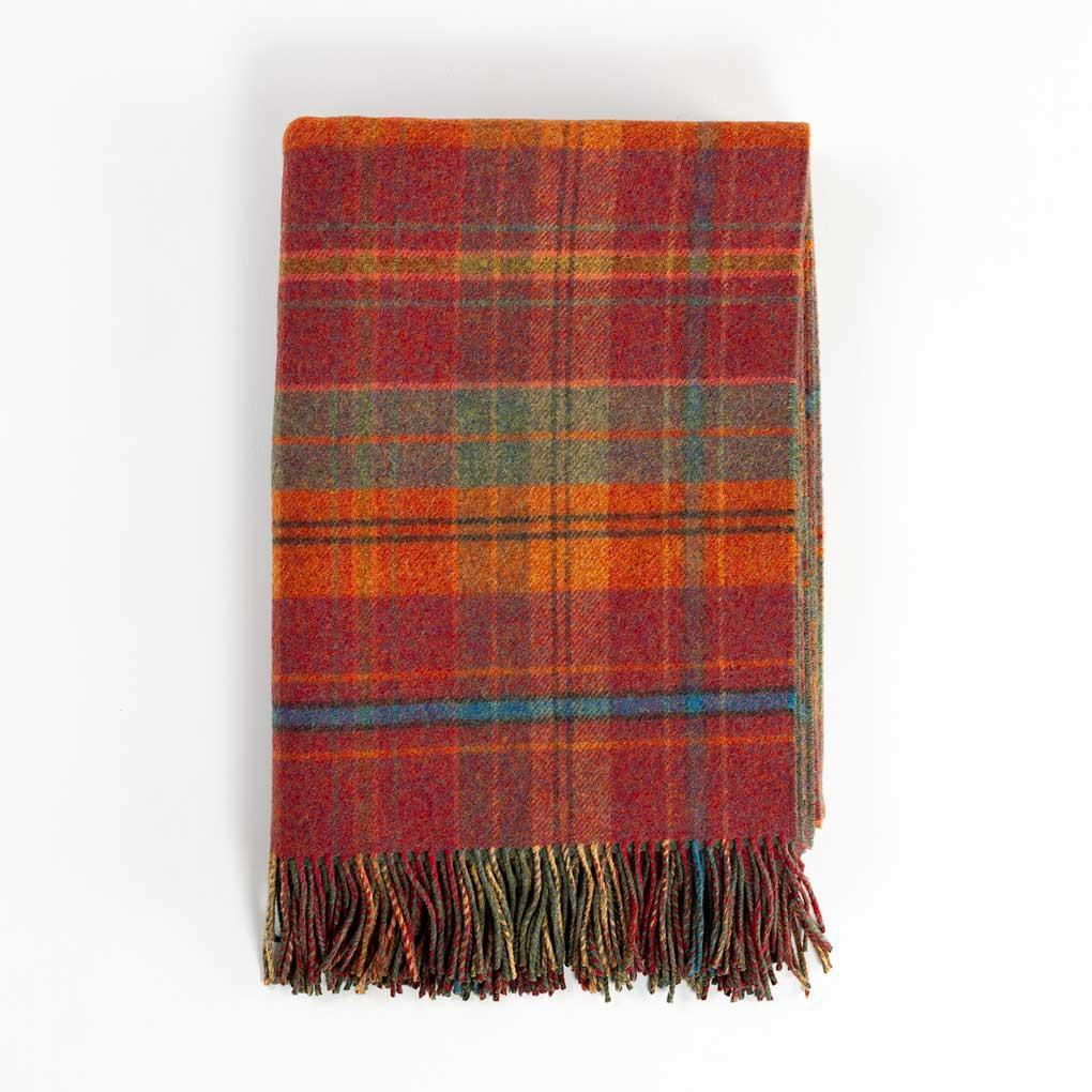 Scottish Tweed Lambswool Blanket Bramble -  - LIVING  from The Wool Company