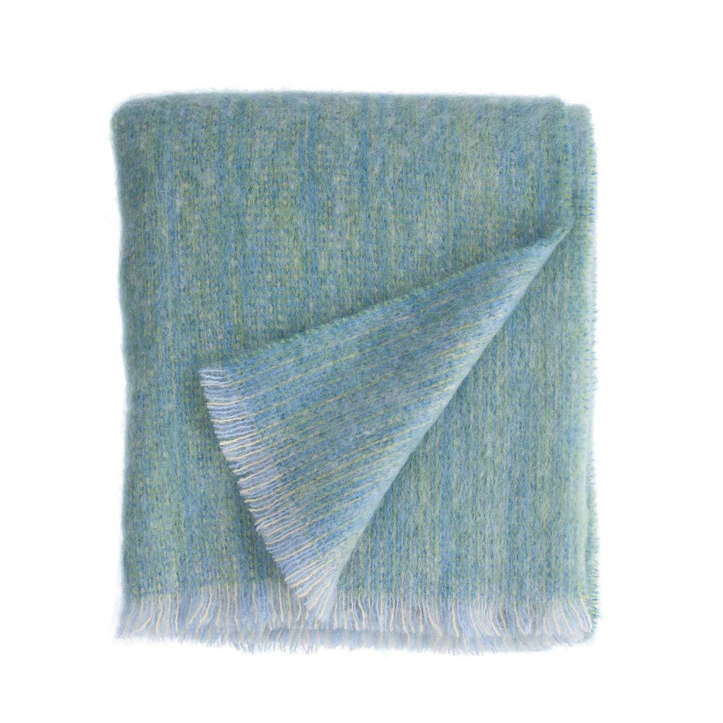 Sea Glass Green Mohair Throw -  - GIFTS  from The Wool Company