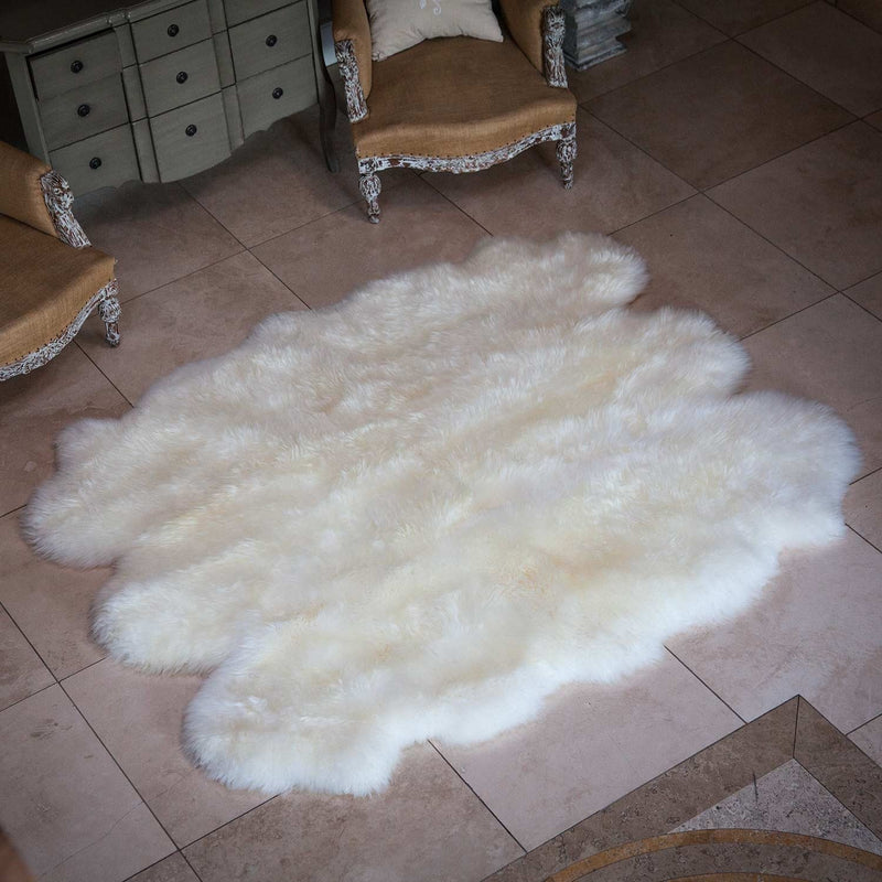 Sexto Sheepskin Natural White SHEEPSKIN The Wool Company