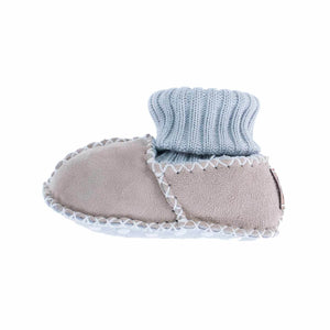 Sheepskin Baby Slippers Natural - 0 - 6 Months - BABY  from The Wool Company
