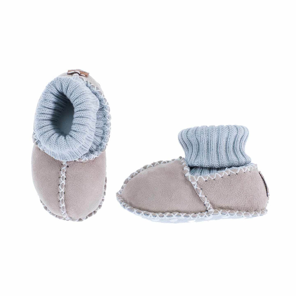 Sheepskin Baby Slippers Natural BABY The Wool Company