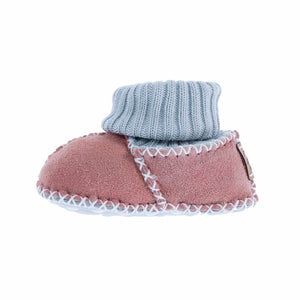 Sheepskin Baby Slippers Rose - 0 - 6 Months - BABY  from The Wool Company
