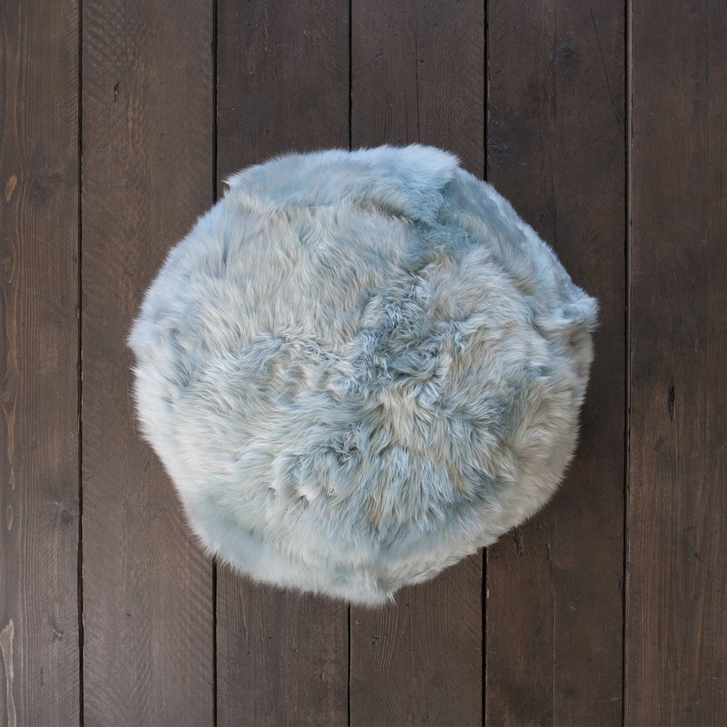Sheepskin Pouffe Duck Egg SHEEPSKIN The Wool Company