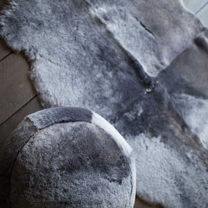 Sheepskin Pouffe in Graphite -  - SHEEPSKIN  from The Wool Company