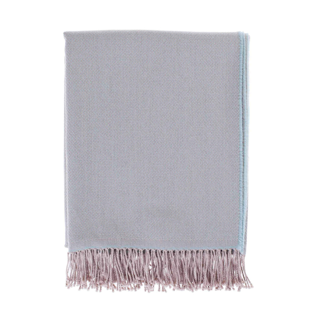 Siena Luxury Merino Throw in Aqua LIVING The Wool Company