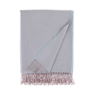 Siena Luxury Merino Throw in Aqua -  - LIVING  from The Wool Company