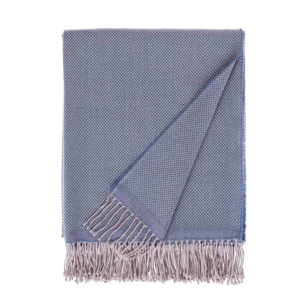 Siena Merino Luxury Throw in Wedgwood Blue -  - LIVING  from The Wool Company