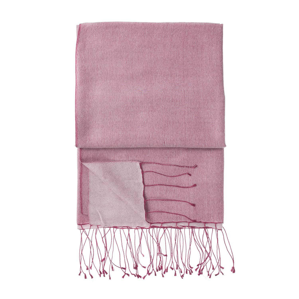 Silk Blend Shawls Cranberry -  - CLOTHING  from The Wool Company