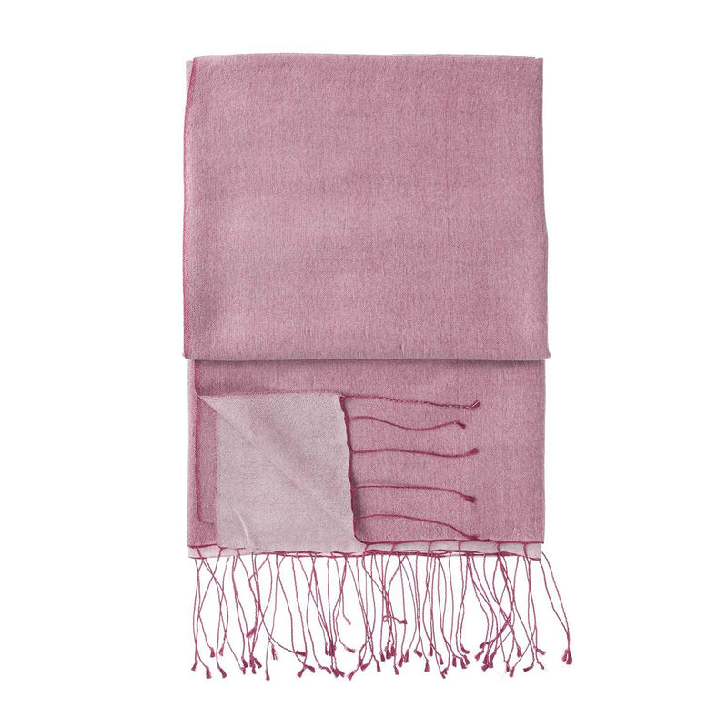 Silk Blend Shawls Cranberry CLOTHING The Wool Company