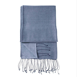 Silk Blend Shawls Dark Navy -  - CLOTHING  from The Wool Company
