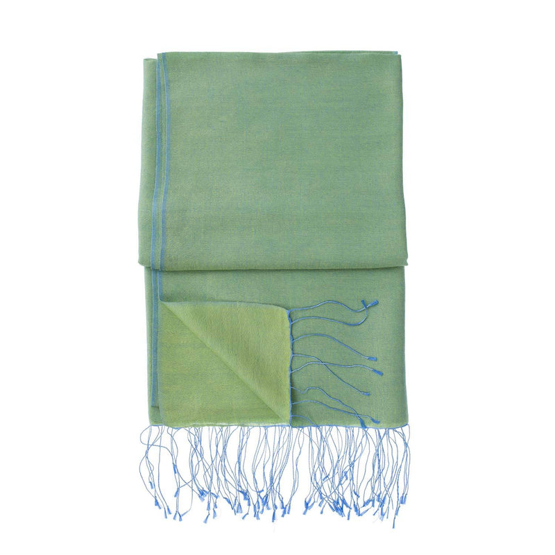 Silk Blend Shawls Hyacinth -  - CLOTHING  from The Wool Company