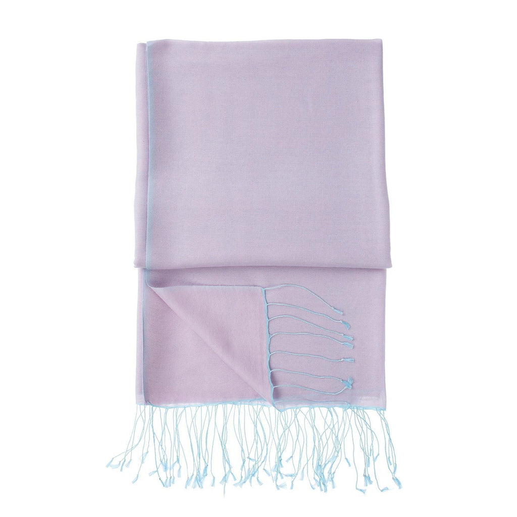 Silk Blend Shawls Lilac -  - CLOTHING  from The Wool Company