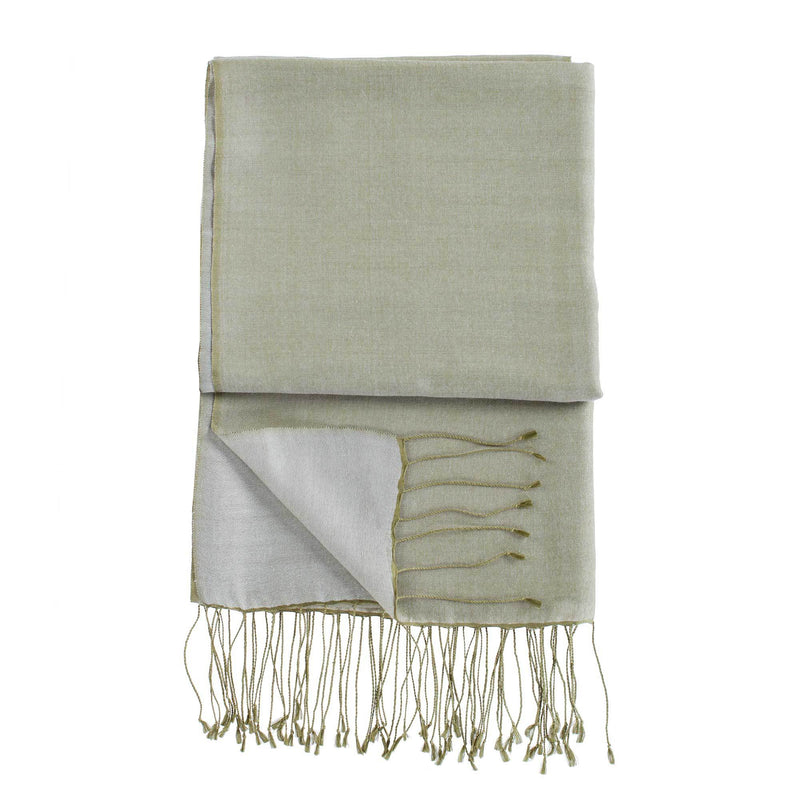Silk Blend Shawls Olive -  - CLOTHING  from The Wool Company