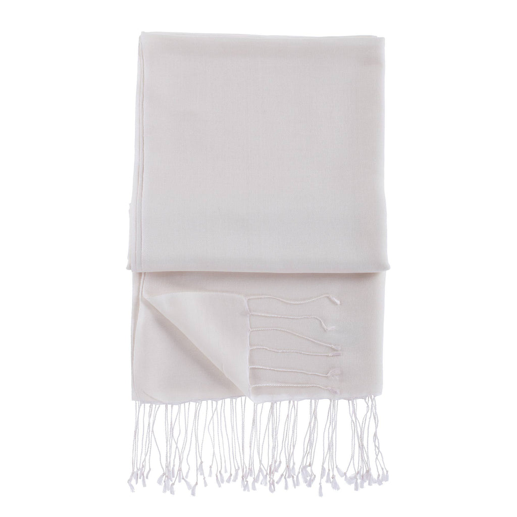 Silk Blend Shawls Oyster -  - CLOTHING  from The Wool Company