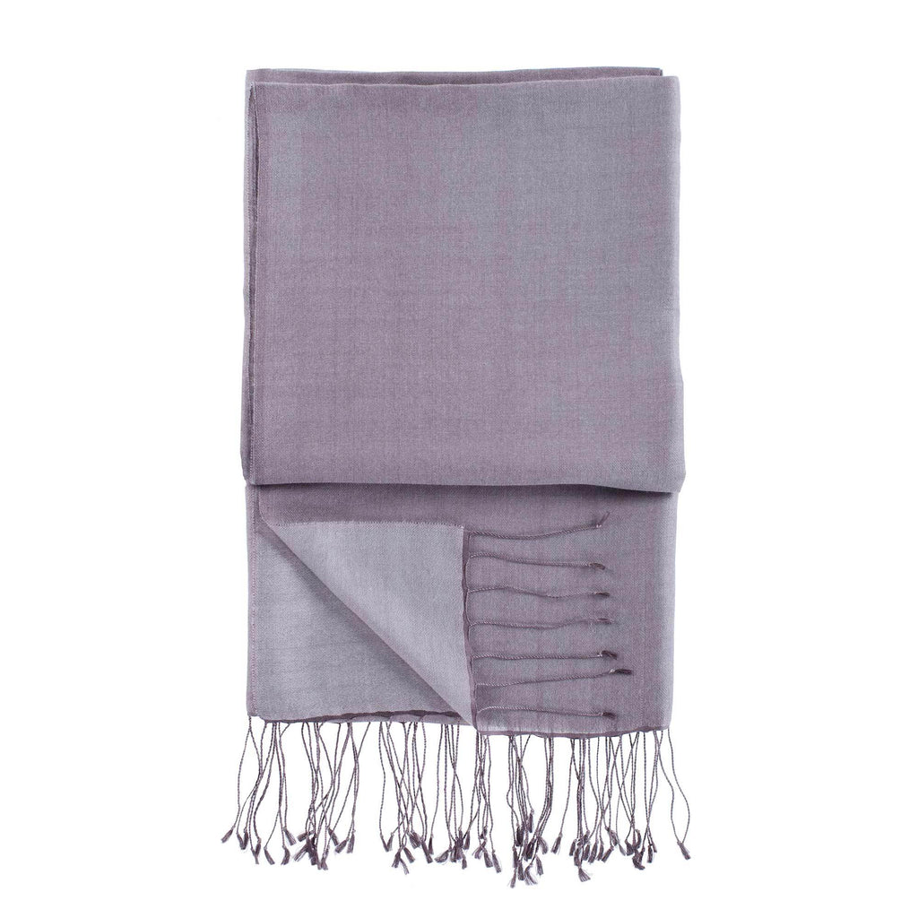 Silk Blend Shawls Taupe -  - CLOTHING  from The Wool Company