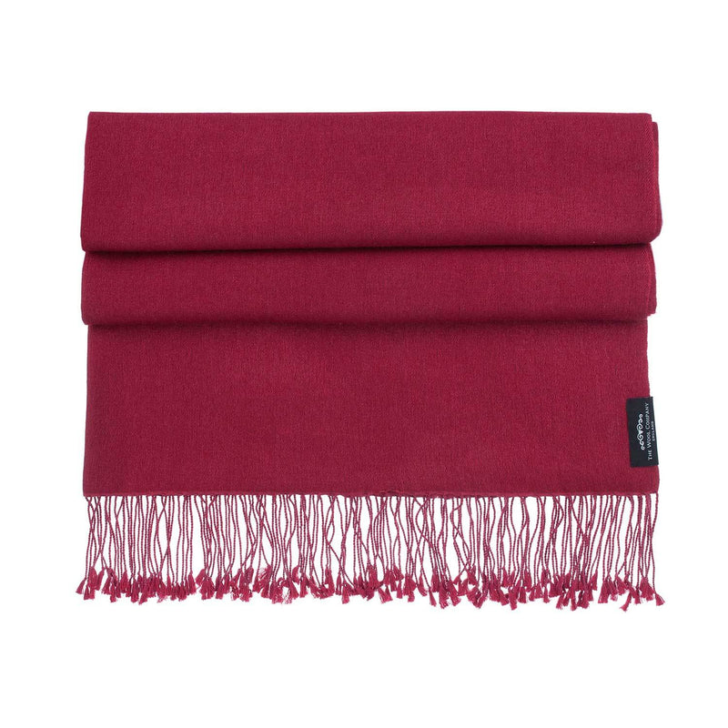 Silk Cashmere Pashmina Burgundy CLOTHING The Wool Company
