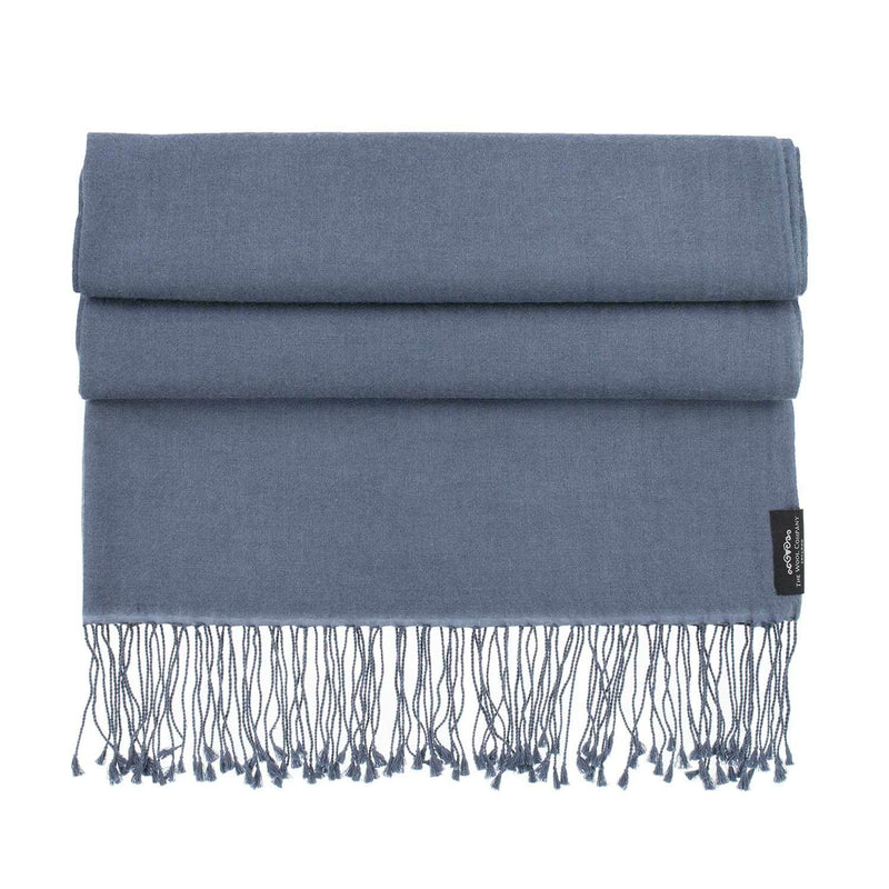 Silk Cashmere Pashmina Charcoal -  - CLOTHING  from The Wool Company