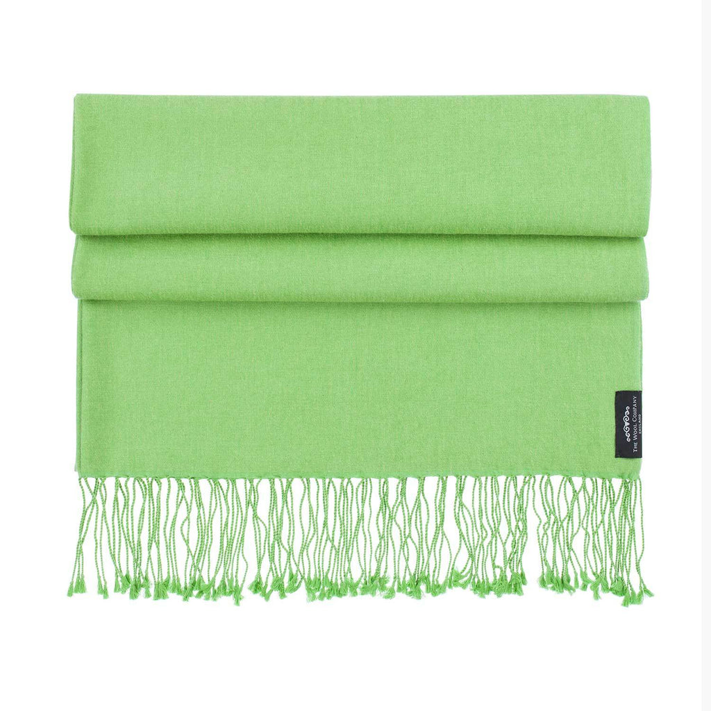 Silk Cashmere Pashmina Chartreuse CLOTHING The Wool Company