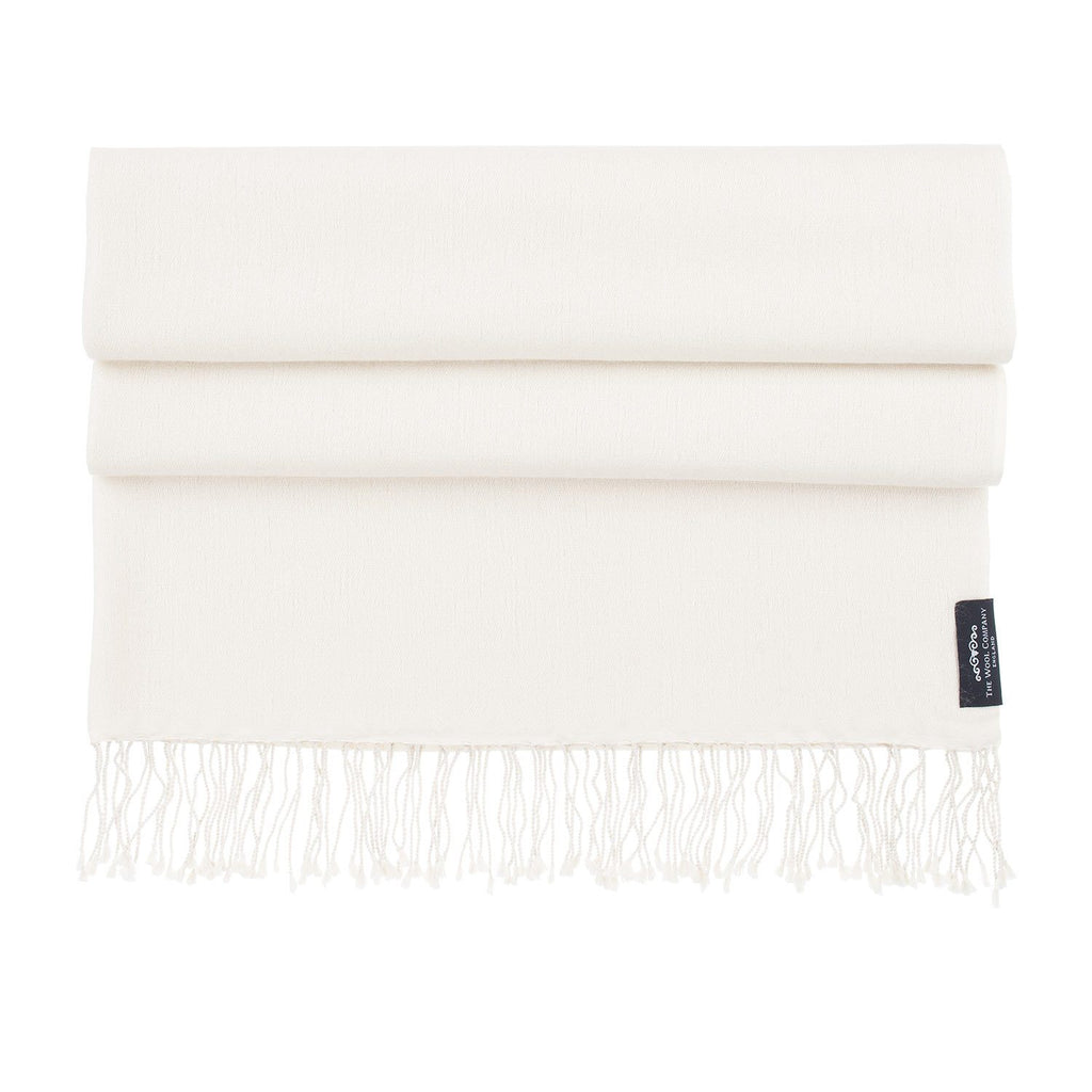 Silk Cashmere Pashmina Cream CLOTHING The Wool Company