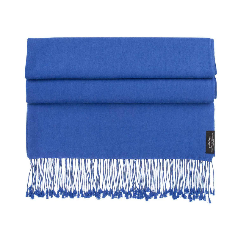 Silk Cashmere Pashmina Lapis CLOTHING The Wool Company