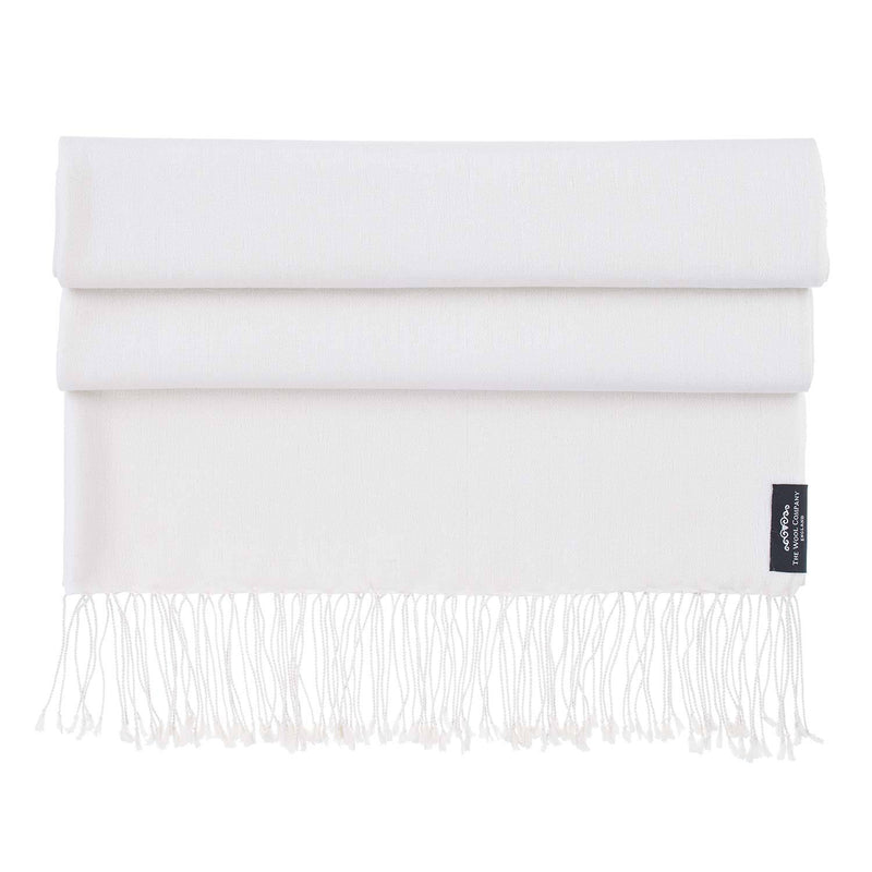 Silk Cashmere Pashmina Off-White CLOTHING The Wool Company