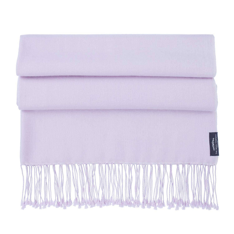 Silk Cashmere Pashmina Pale Lilac -  - CLOTHING  from The Wool Company