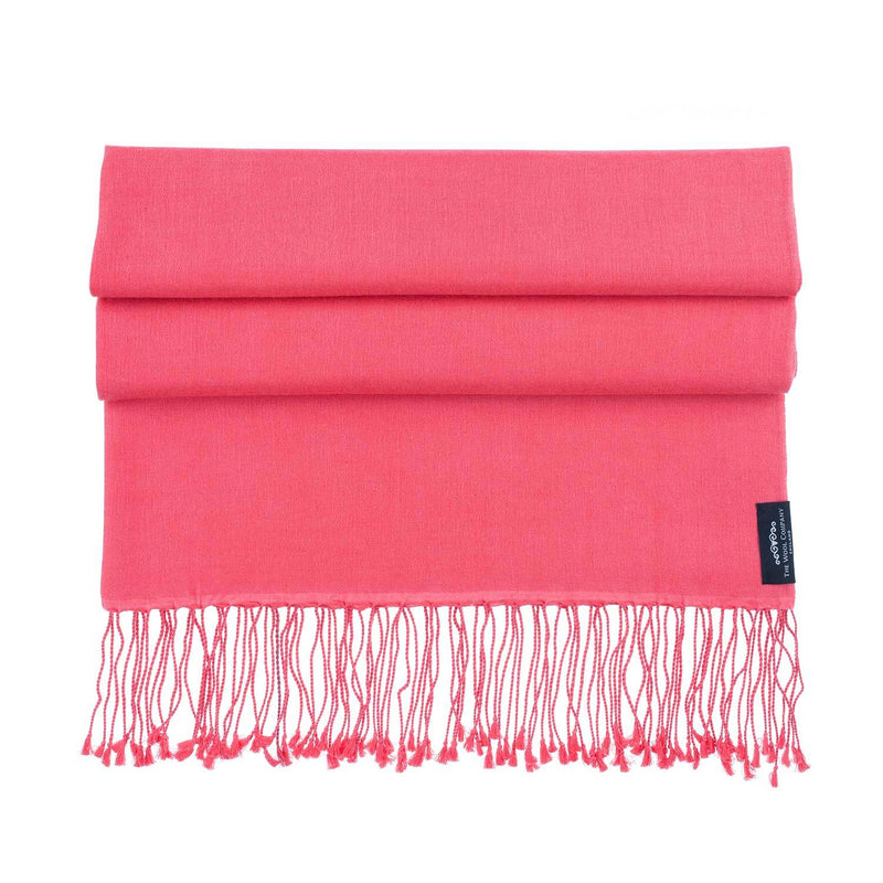 Silk Cashmere Pashmina Raspberry CLOTHING The Wool Company