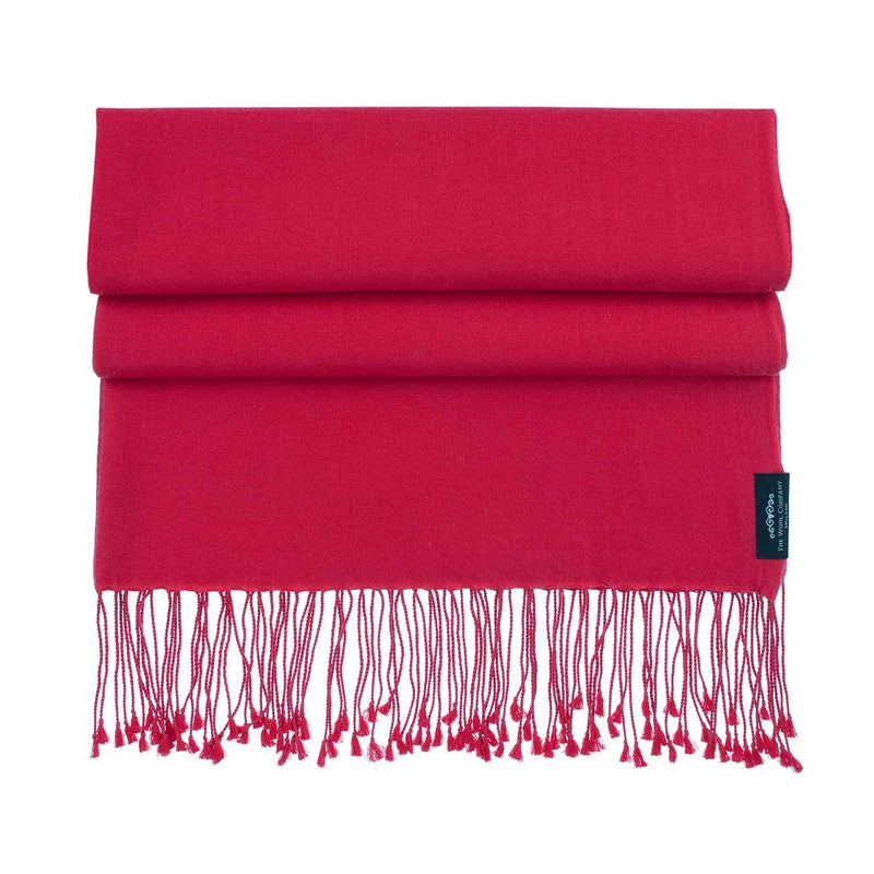 Silk Cashmere Pashmina Real Red CLOTHING The Wool Company