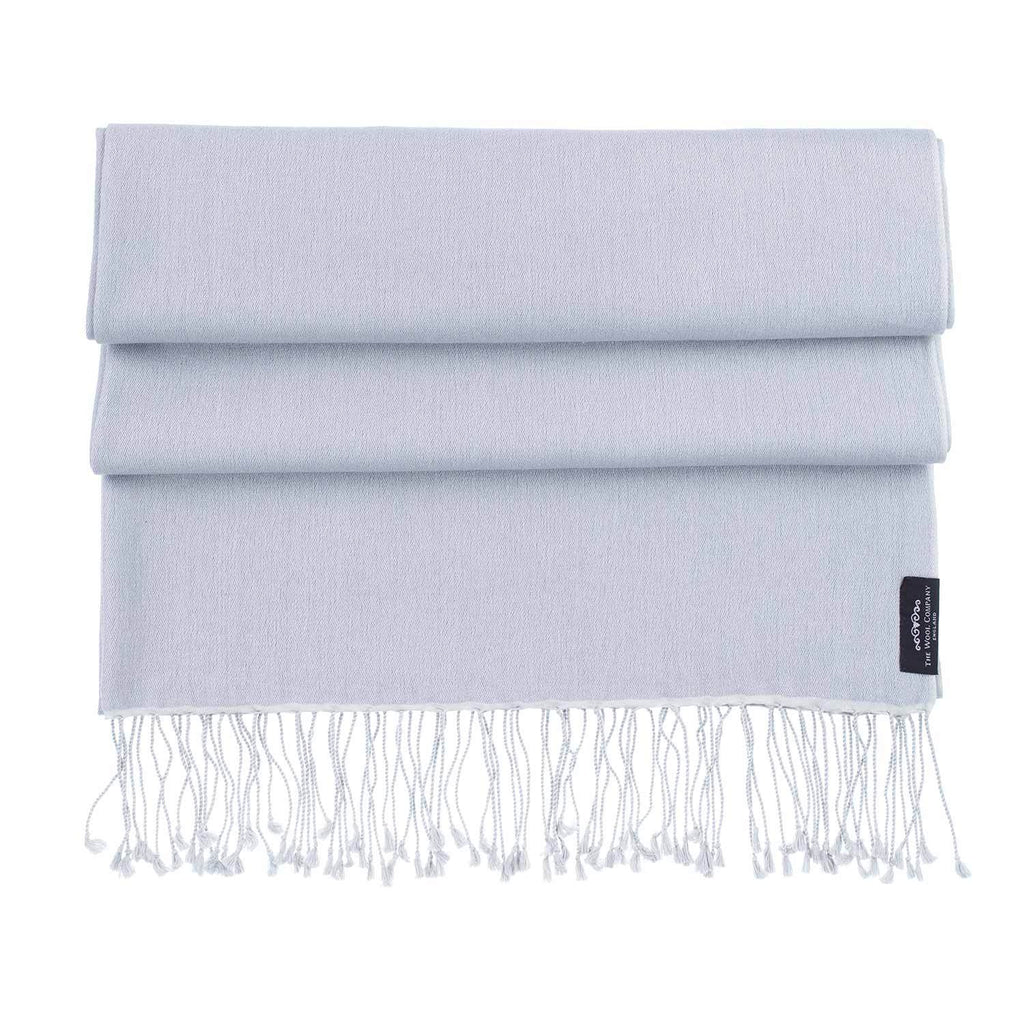 Silk Cashmere Pashmina Silver -  - CLOTHING  from The Wool Company