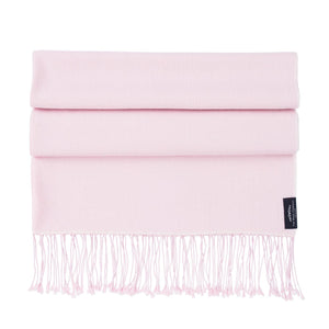 Silk Cashmere Pashmina Soft Pink -  - CLOTHING  from The Wool Company