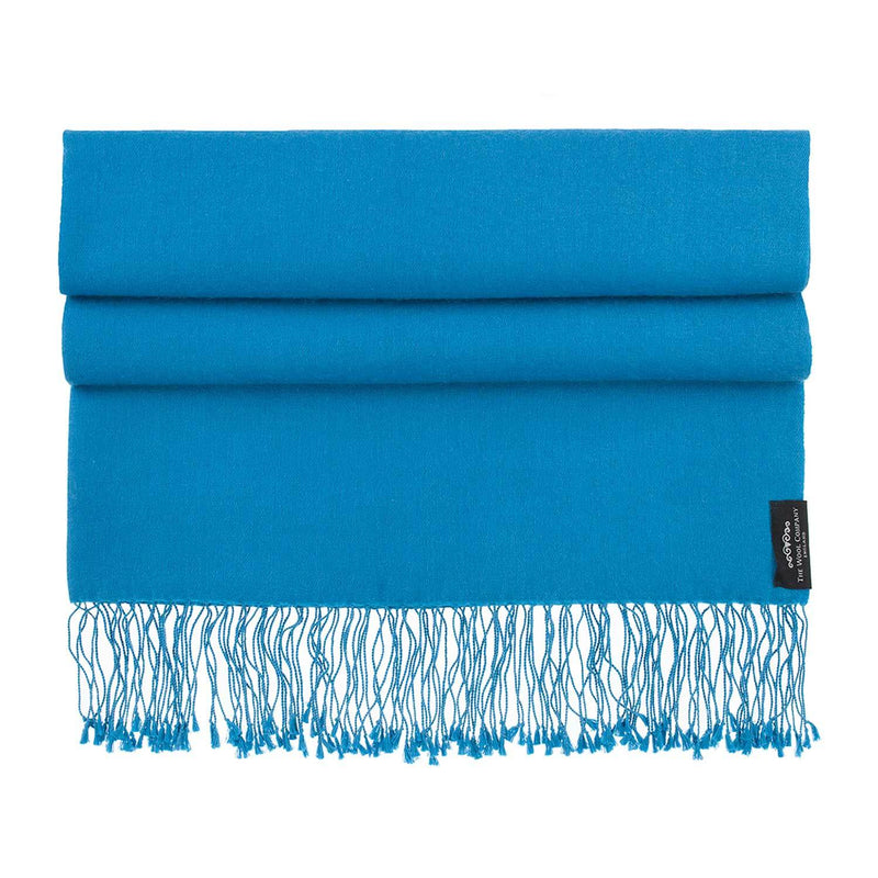 Silk Cashmere Pashmina Teal CLOTHING The Wool Company
