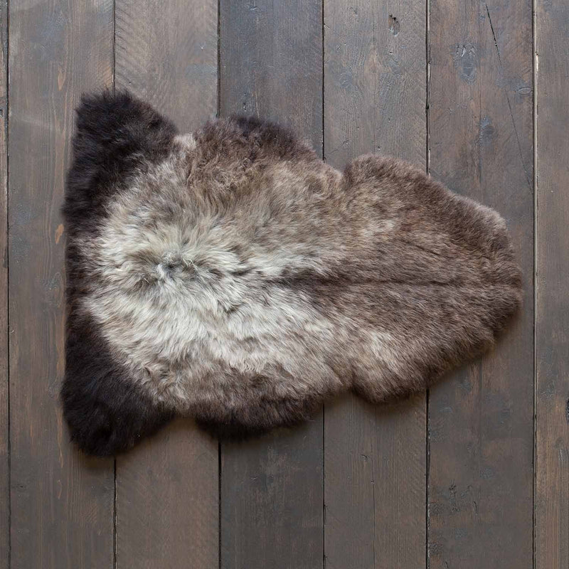 Silver and Brown Sheepskin SHEEPSKIN The Wool Company