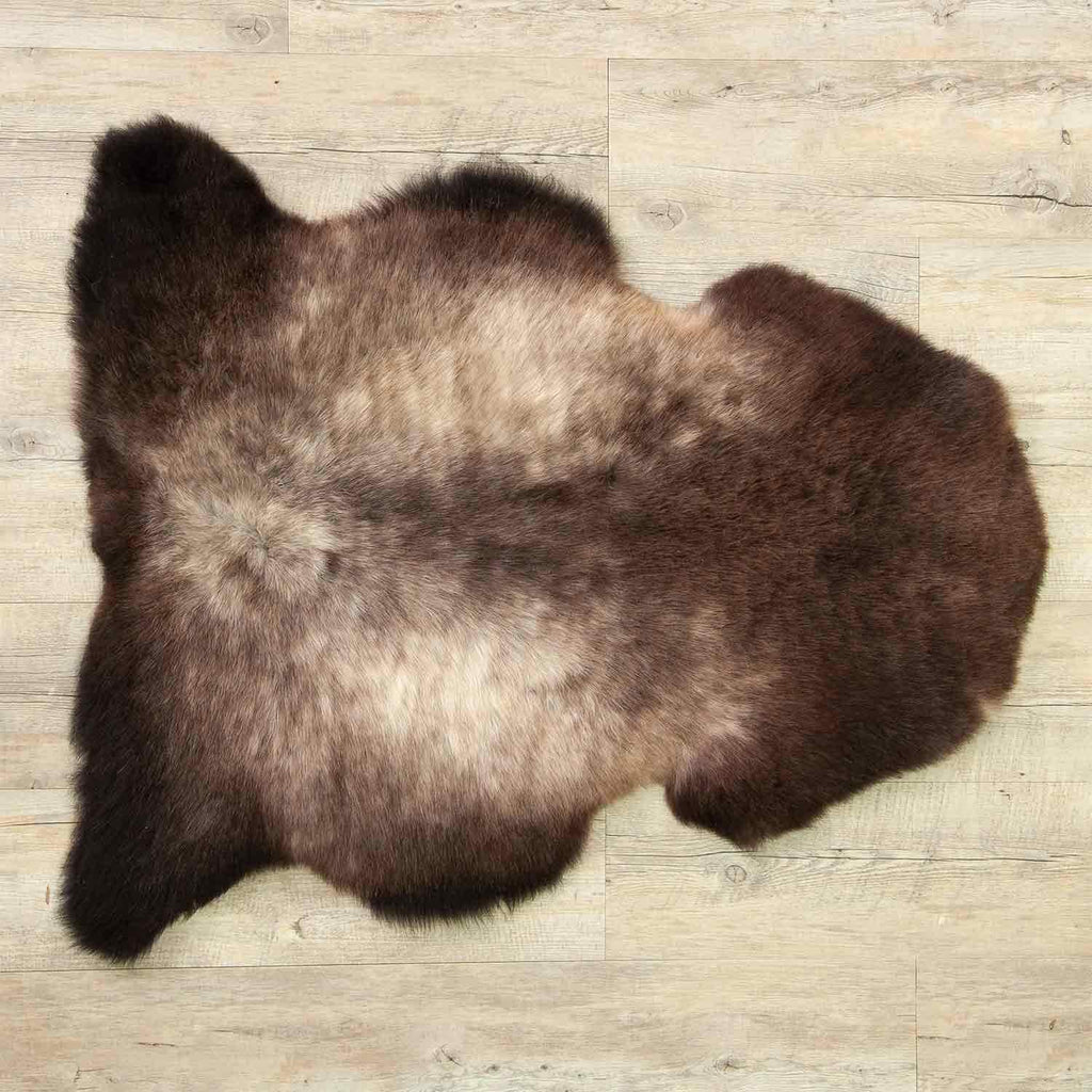Silver and Brown Sheepskin -  - SHEEPSKIN  from The Wool Company