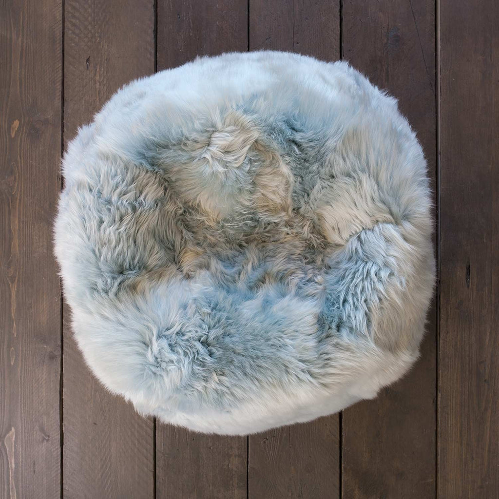 Small Sheepskin Beanbag Duck Egg SHEEPSKIN The Wool Company