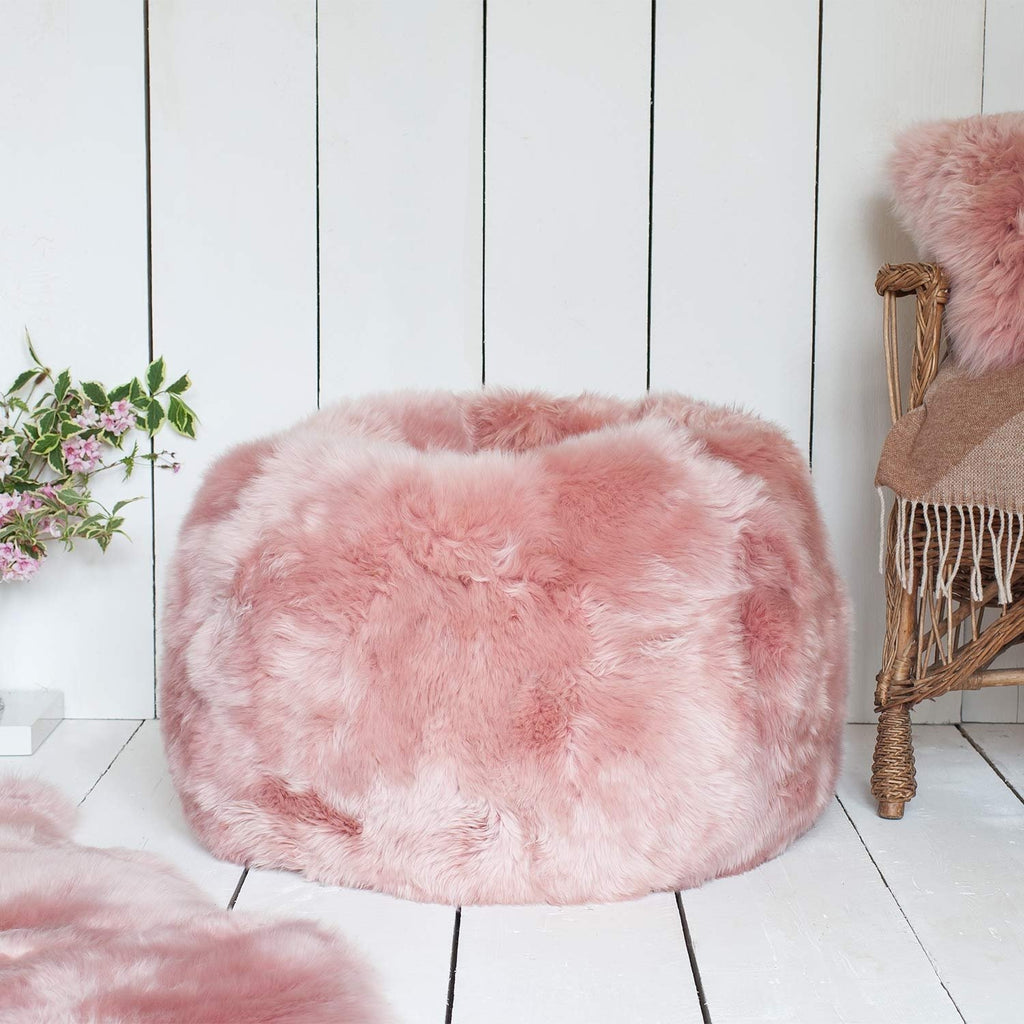 Small Sheepskin Beanbag Dusky Pink -  - SHEEPSKIN  from The Wool Company