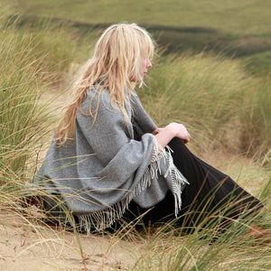 Buy Soft Alpaca Throw Grey Herringbone From The Wool Company Online