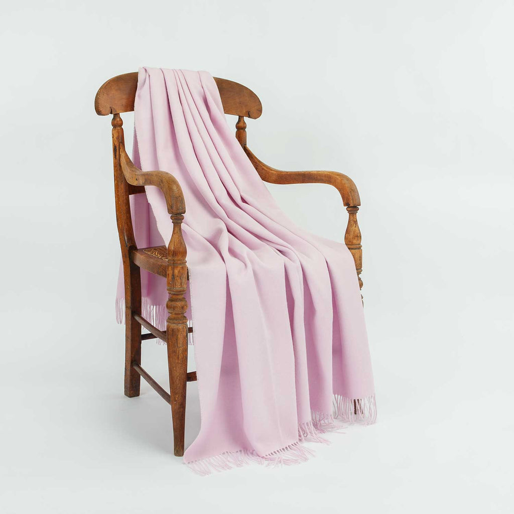 Buy Soft Alpaca Throw Light Pink From The Wool Company Online