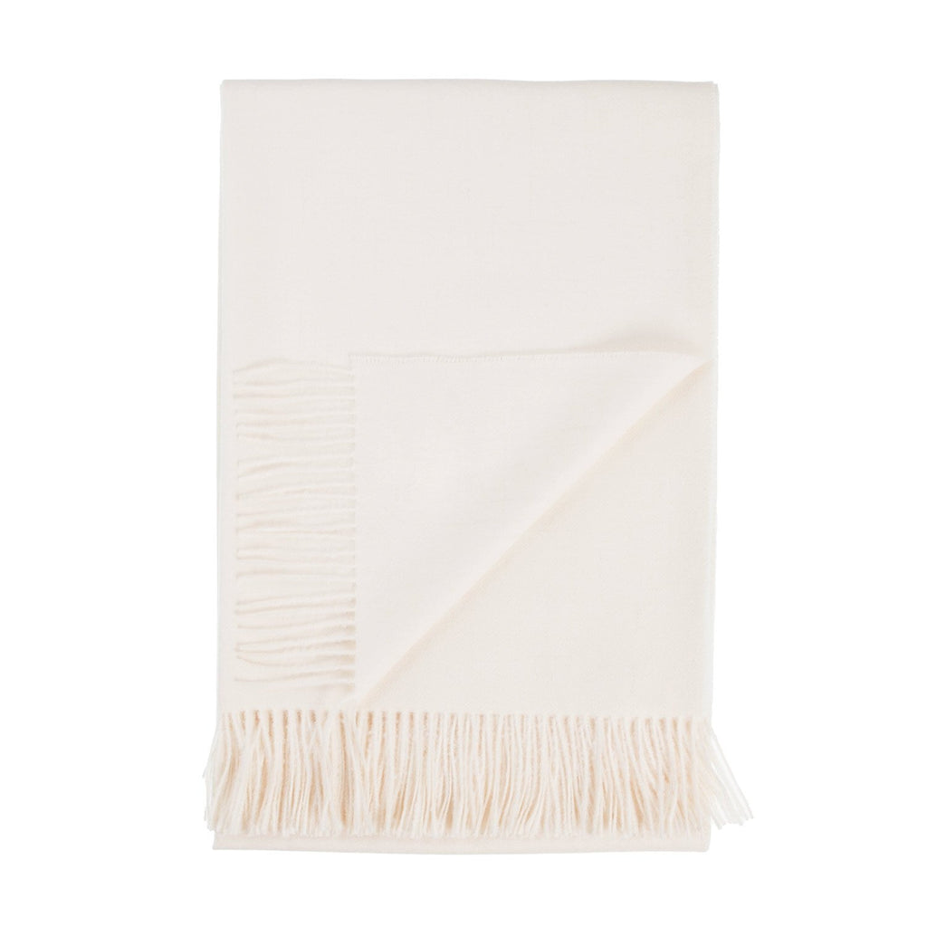 Soft Alpaca Throw Natural Cream -  - LIVING  from The Wool Company