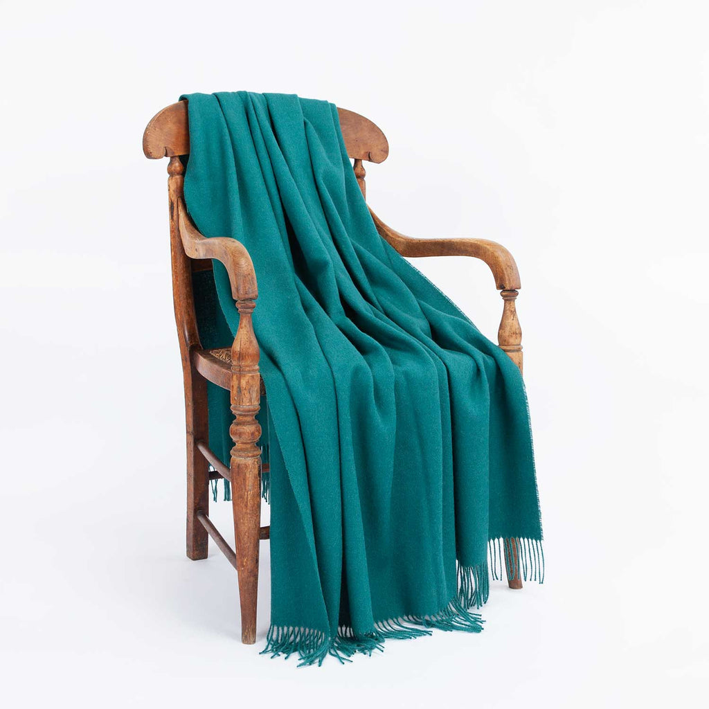 Soft Alpaca Throw Teal -  - LIVING  from The Wool Company