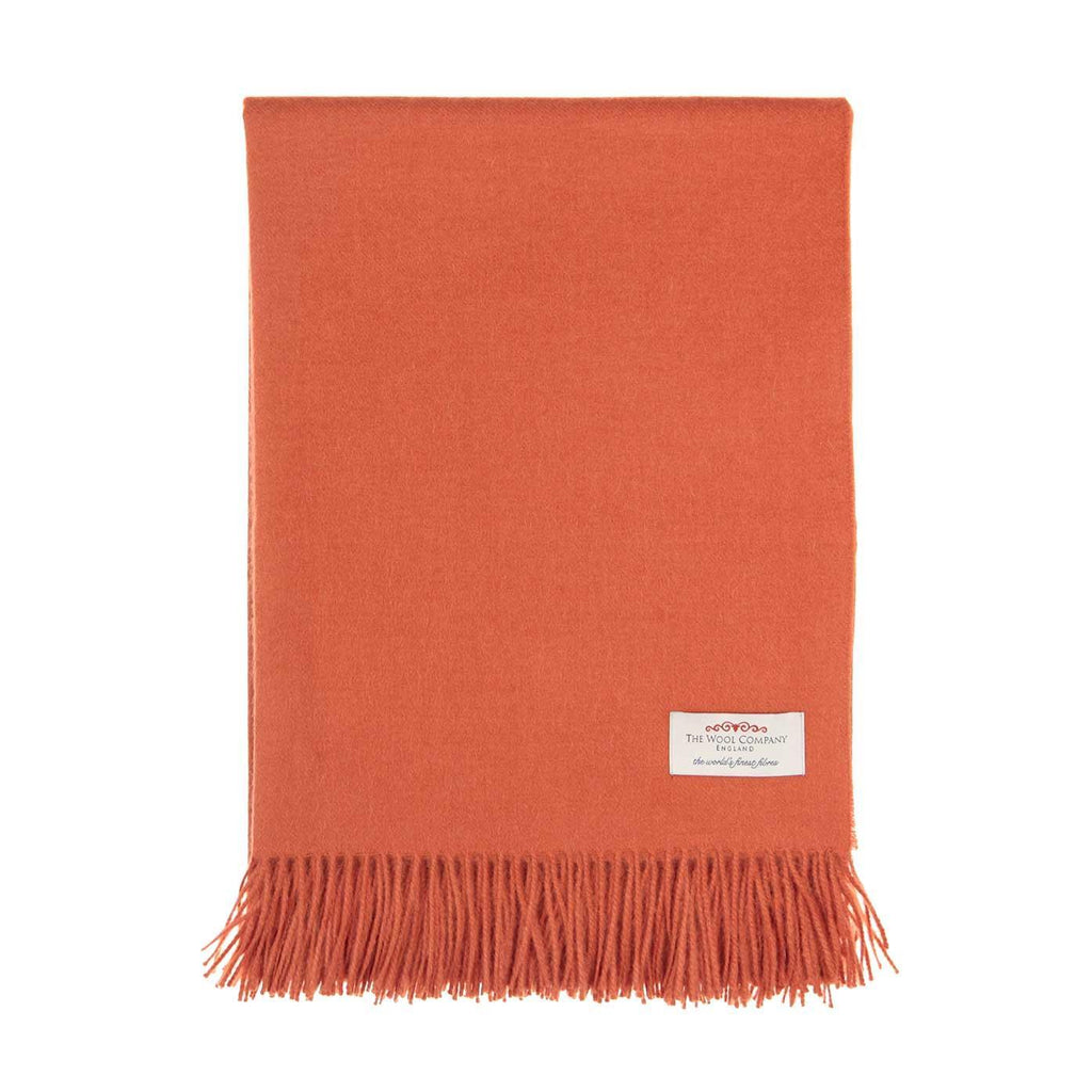 Buy Soft Alpaca Throw Terracotta From The Wool Company Online