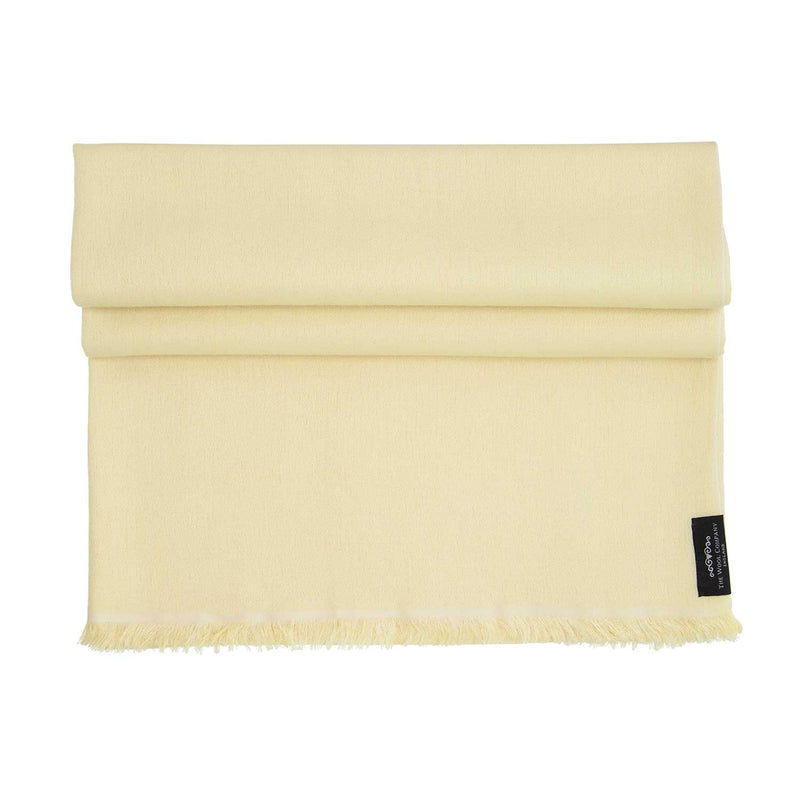Soft Fringed Pashmina Lemon -  - CLOTHING  from The Wool Company