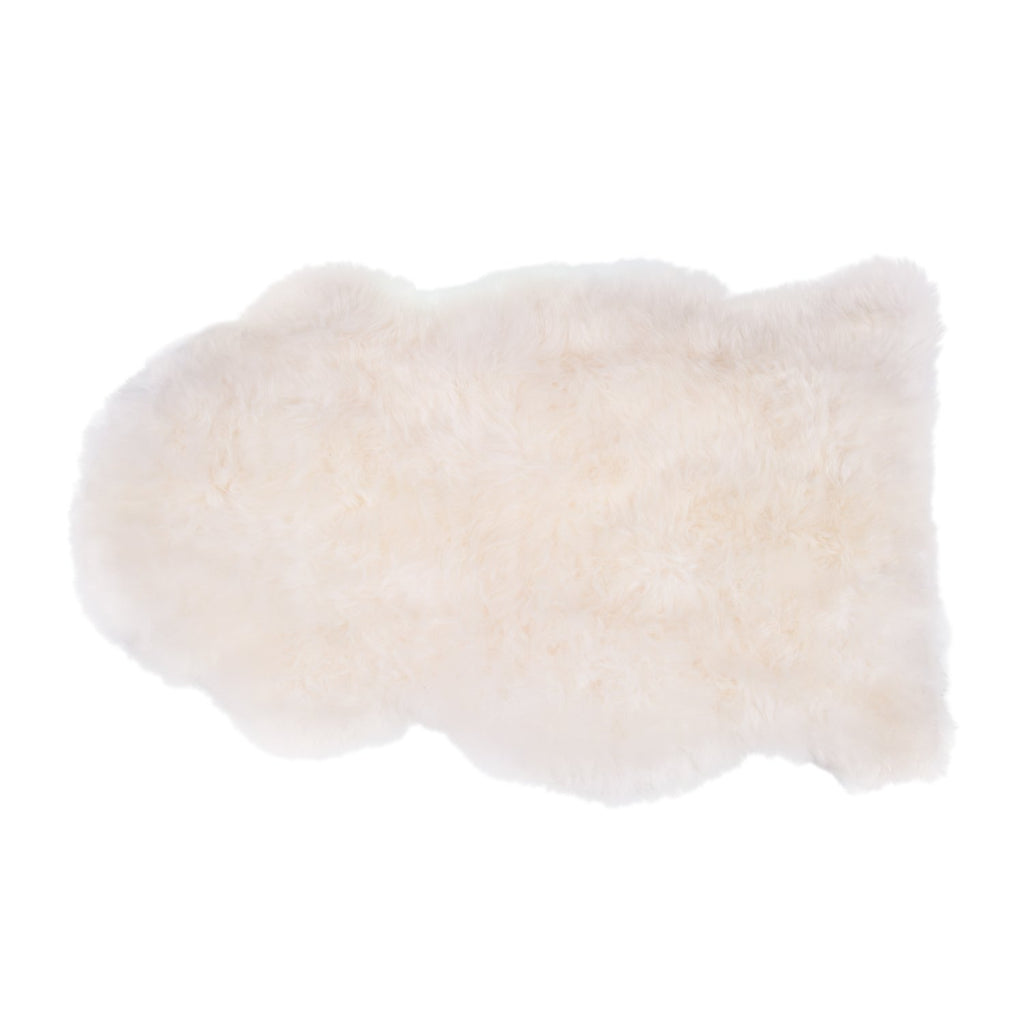 Soft Natural Length Sheepskin Ivory White -  - SHEEPSKIN  from The Wool Company