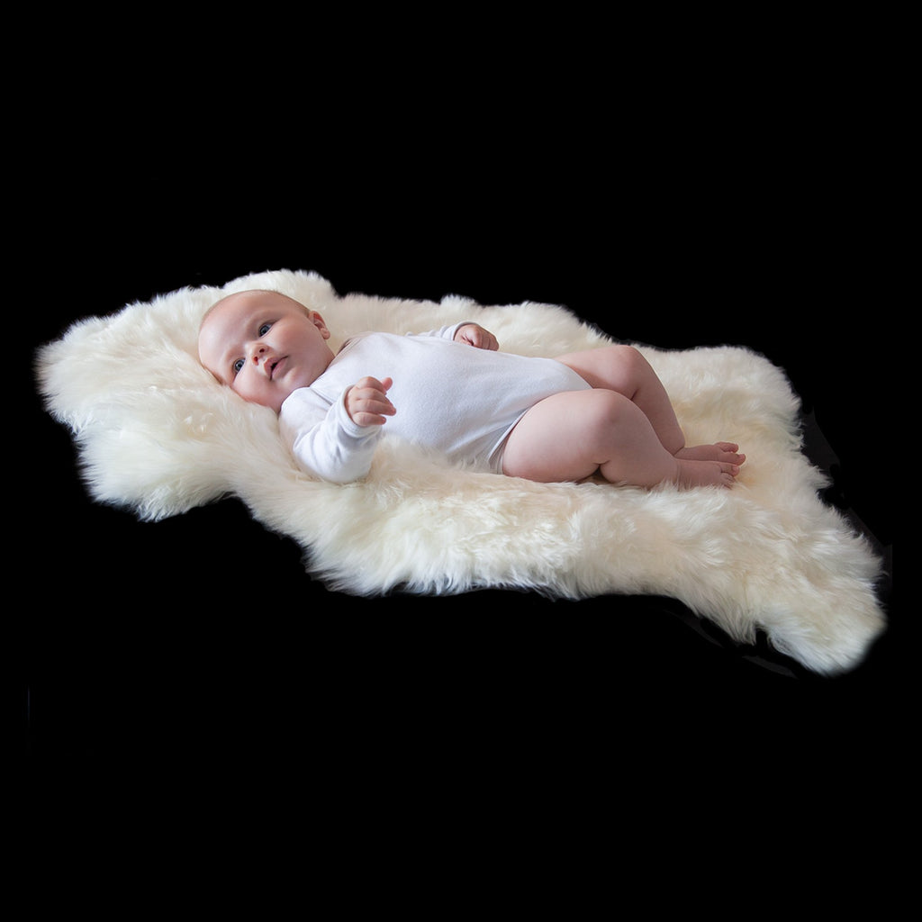 Soft Natural Length Sheepskin Ivory White SHEEPSKIN The Wool Company